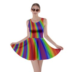 Abstract Pattern Lines Wave Skater Dress