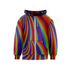 Abstract Pattern Lines Wave Kids  Zipper Hoodie