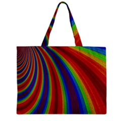 Abstract Pattern Lines Wave Zipper Mini Tote Bag