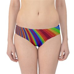 Abstract Pattern Lines Wave Hipster Bikini Bottoms