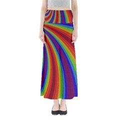 Abstract Pattern Lines Wave Full Length Maxi Skirt
