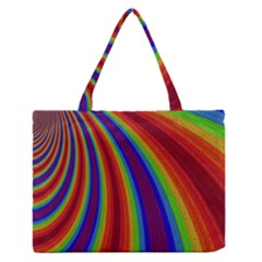 Abstract Pattern Lines Wave Zipper Medium Tote Bag