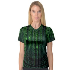 Matrix Communication Software Pc V Neck Sport Mesh Tee