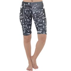 Arrows Board School Blackboard Cropped Leggings