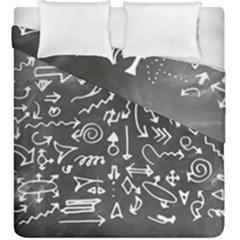Arrows Board School Blackboard Duvet Cover Double Side (king Size)