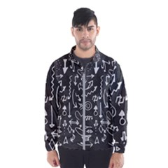 Arrows Board School Blackboard Wind Breaker (men)