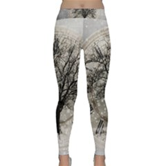 Snow Snowfall New Year S Day Classic Yoga Leggings
