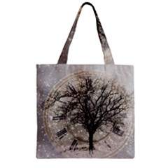 Snow Snowfall New Year S Day Zipper Grocery Tote Bag