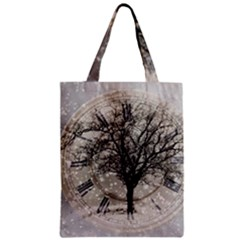 Snow Snowfall New Year S Day Zipper Classic Tote Bag