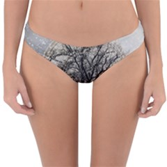 Snow Snowfall New Year S Day Reversible Hipster Bikini Bottoms