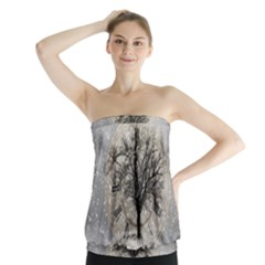 Snow Snowfall New Year S Day Strapless Top