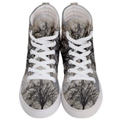 Snow Snowfall New Year S Day Women s Hi Top Skate Sneakers