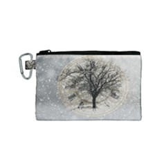 Snow Snowfall New Year S Day Canvas Cosmetic Bag (small)