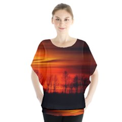 Tree Series Sun Orange Sunset Blouse