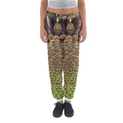 Peacock Feathers Wheel Plumage Women s Jogger Sweatpants
