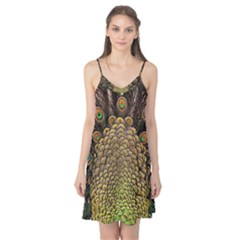 Peacock Feathers Wheel Plumage Camis Nightgown