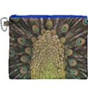 Peacock Feathers Wheel Plumage Canvas Cosmetic Bag (XXXL) View1
