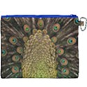 Peacock Feathers Wheel Plumage Canvas Cosmetic Bag (XXXL) View2