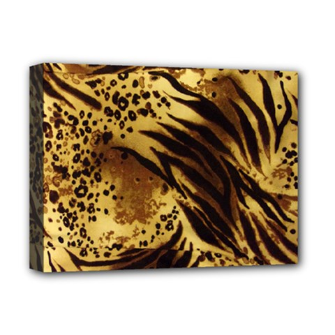 Pattern Tiger Stripes Print Animal Deluxe Canvas 16  X 12