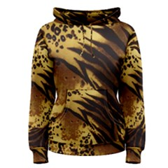 Pattern Tiger Stripes Print Animal Women s Pullover Hoodie