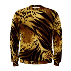 Pattern Tiger Stripes Print Animal Men s Sweatshirt