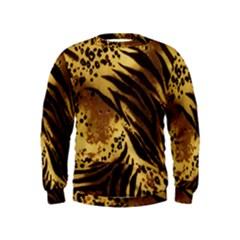 Pattern Tiger Stripes Print Animal Kids  Sweatshirt