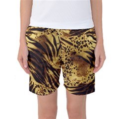Pattern Tiger Stripes Print Animal Women s Basketball Shorts
