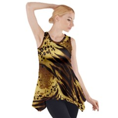 Pattern Tiger Stripes Print Animal Side Drop Tank Tunic