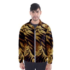 Pattern Tiger Stripes Print Animal Wind Breaker (men)