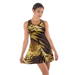 Pattern Tiger Stripes Print Animal Cotton Racerback Dress