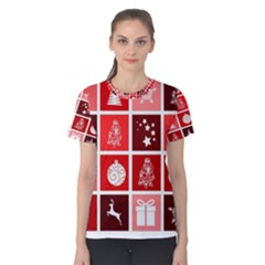 Christmas Map Innovative Modern Women s Cotton Tee