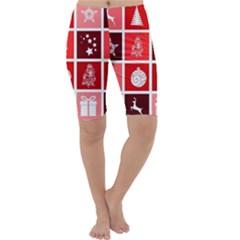 Christmas Map Innovative Modern Cropped Leggings