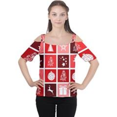 Christmas Map Innovative Modern Cutout Shoulder Tee