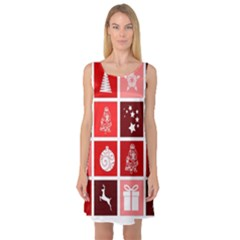 Christmas Map Innovative Modern Sleeveless Satin Nightdress