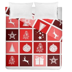 Christmas Map Innovative Modern Duvet Cover Double Side (queen Size)