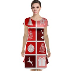Christmas Map Innovative Modern Cap Sleeve Nightdress