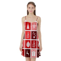 Christmas Map Innovative Modern Satin Night Slip