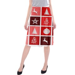 Christmas Map Innovative Modern Midi Beach Skirt