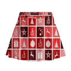 Christmas Map Innovative Modern Mini Flare Skirt