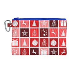 Christmas Map Innovative Modern Canvas Cosmetic Bag (large)
