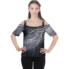 Flash Black Thunderstorm Cutout Shoulder Tee
