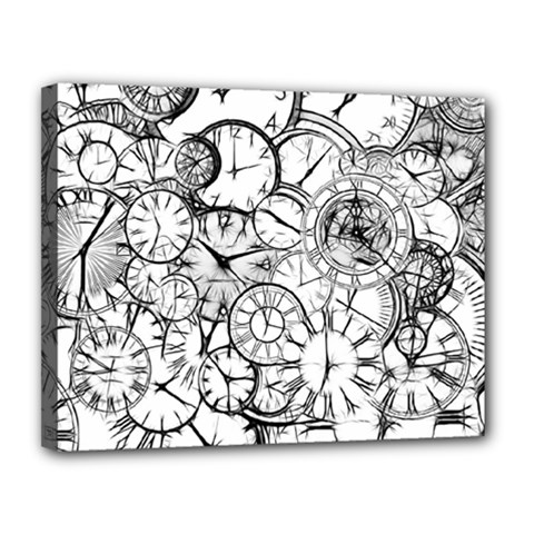 Time Clock Watches Time Of Canvas 14  X 11