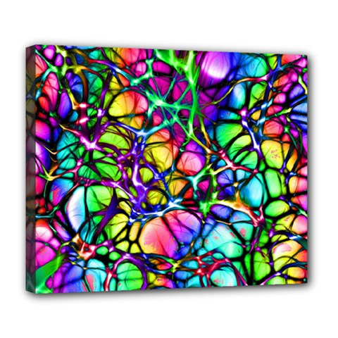 Network Nerves Nervous System Line Deluxe Canvas 24  X 20