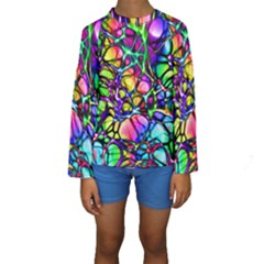 Network Nerves Nervous System Line Kids  Long Sleeve Swimwear