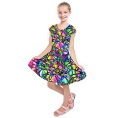 Network Nerves Nervous System Line Kids  Short Sleeve Dress