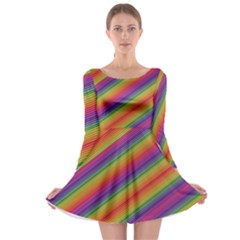 Spectrum Psychedelic Long Sleeve Skater Dress