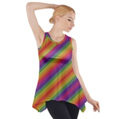 Spectrum Psychedelic Side Drop Tank Tunic