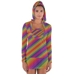 Spectrum Psychedelic Long Sleeve Hooded T Shirt