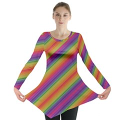 Spectrum Psychedelic Long Sleeve Tunic