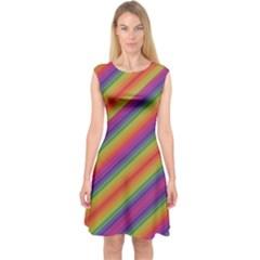 Spectrum Psychedelic Capsleeve Midi Dress